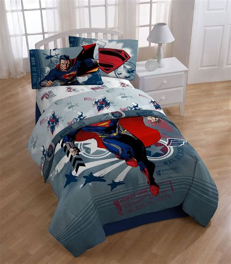 superhero twin bedding dc comics superman twin bed comforter man steel superhero bedding twin size