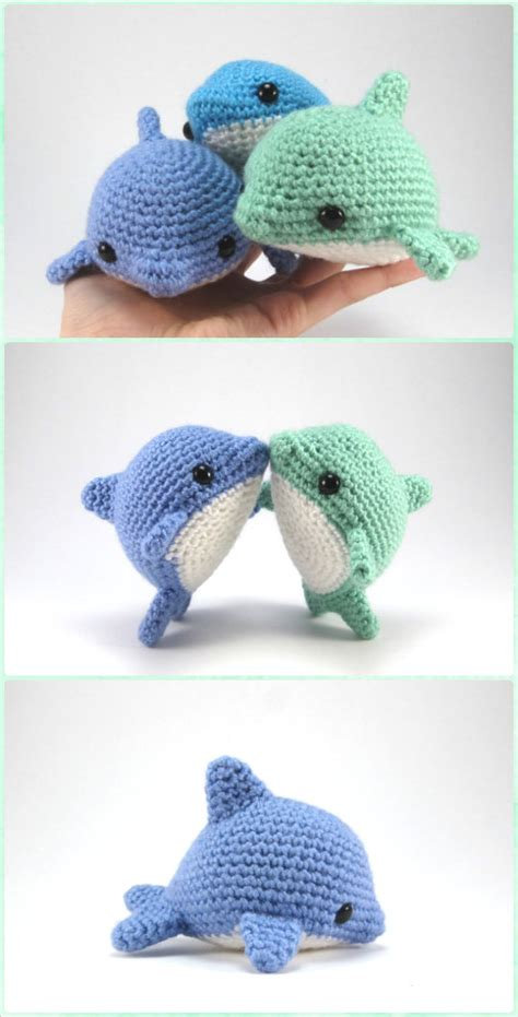 dolphin knitting pattern free amigurumi crochet sea creature animal free patterns