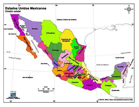 map de mexico y usa mapa para imprimir de m 233 xico mapa en color de estados