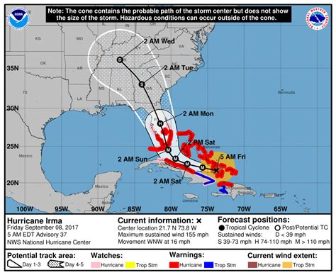 Mba Abac Weekend Track by Hurricane Irma Downgraded To Category 4 Track Shifts West