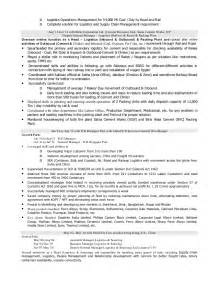 resume of logistics amp supply chain professional with 14