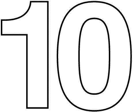 coloring pages numbers 10 20 number 10 printable pinterest number 10