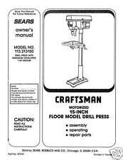 Craftsman 10 Inch 5 Speed Drill Press With Laser Model