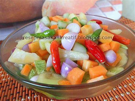 resep acar timun mentah wortel  nanas menu penting