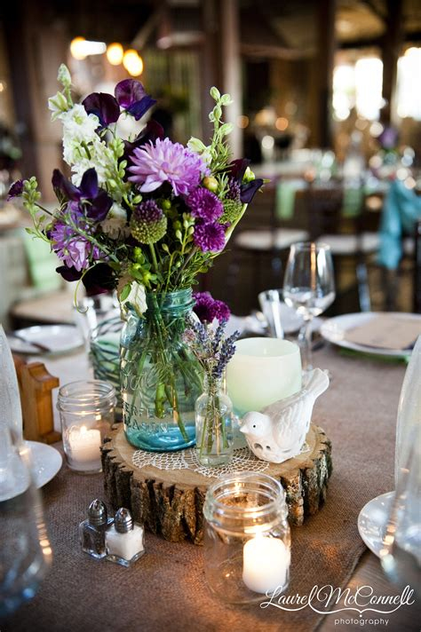 wood centerpiece molly and mae flower co
