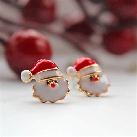 Santa Claus Earings Anting Santa 1 santa claus stud earrings by rabal notonthehighstreet