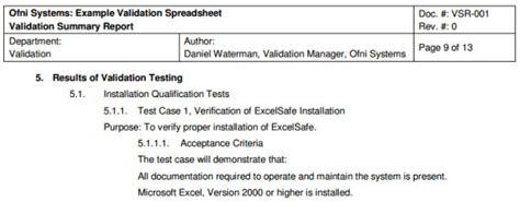 process validation summary report template fastval validation summary report template ofni systems