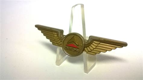 vintage delta airlines plastic wings pin for sale in