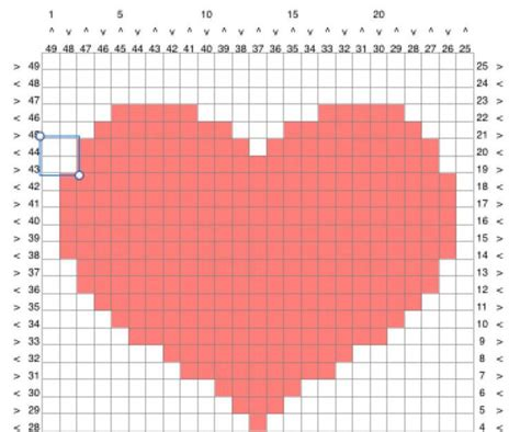 heart pattern programs in c 177 best crochet graph tunisian tapestry images on