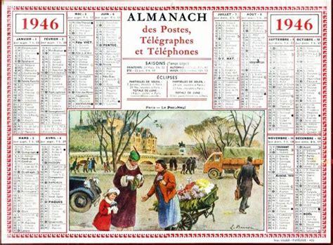 Calendrier De 1946 Calendriers Des Annees 1940 1946 2 99 Photos