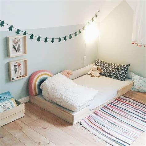 Floor Bed Ideas by Montessori Bedroom With Floor Bed For Toddler Or