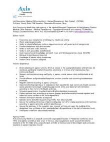 sample resume for medical receptionist ezg99044 me receptionist