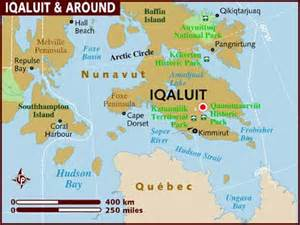 where is iqaluit on a map of canada map of iqaluit