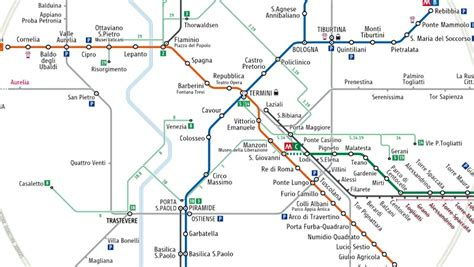rome metro map maps of rome european best cities