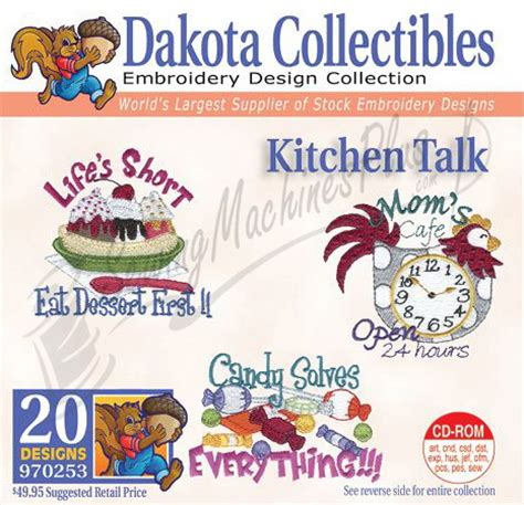 Free Kitchen Embroidery Designs Dakota Collectibles Kitchen Talk Embroidery Designs 970253 Ebay