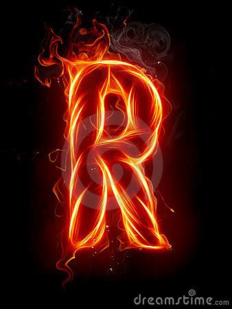 fire letter  royalty  stock  image