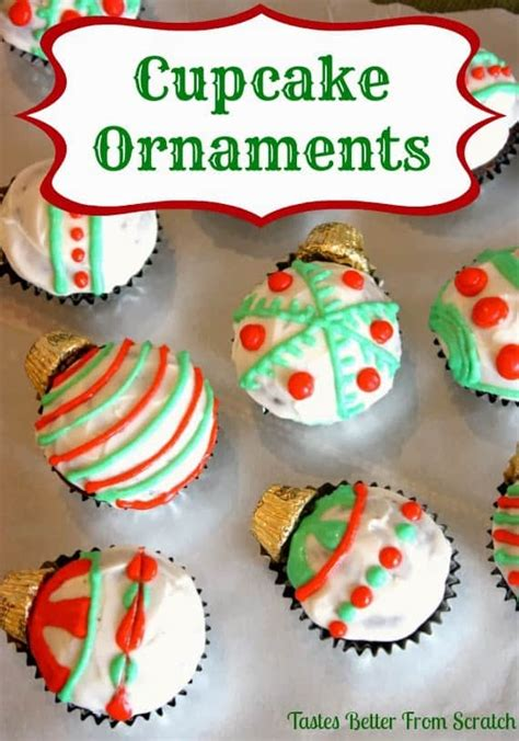 cupcake ornaments tastes   scratch