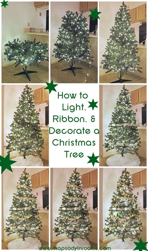 how to light ribbon and decorate a christmas tree