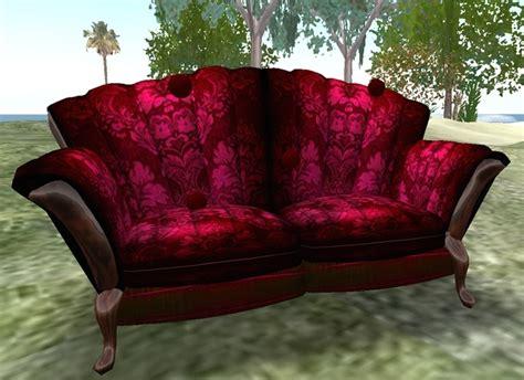 red velvet loveseat second life marketplace usagui red velvet sofa oberisk