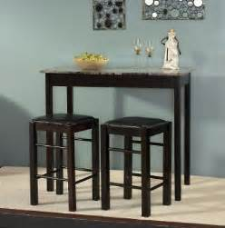 Kitchen Bar Stools And Table Sets 3pc Espresso Wooden Counter Height Kitchen Table Island 2 Stools Set Pub Bar Ebay