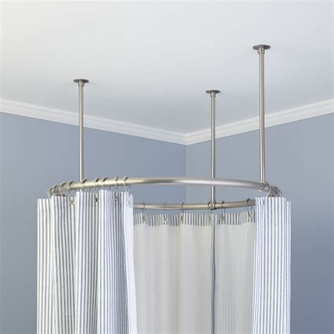 bathroom rods 32 quot round solid brass shower curtain rod bathroom