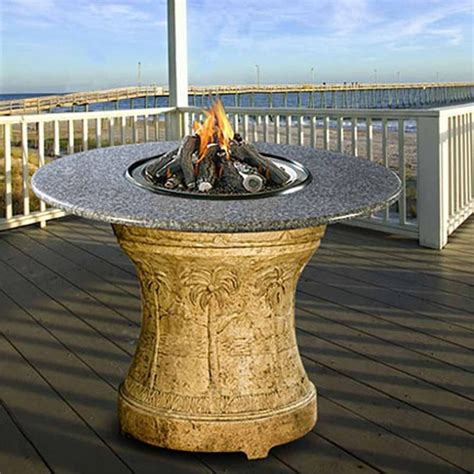 Bar Height Gas Pit Table palm bar height multifunctional gas logs pit table