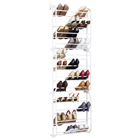 white 36pair over the door shoe rack wall hanging closet door hanging shoe rack white 36 pair 163 12 99 oypla