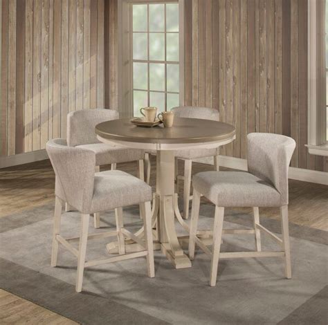 kinsey modern  piece dining set   counter height