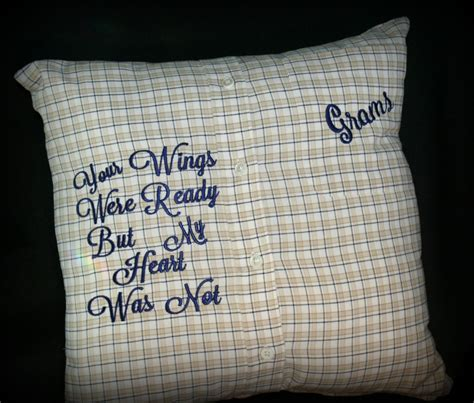 What Is The Pillow Made Of by Memory Pillow Keepsake Pillow Made From Your Loved Ones Shirt