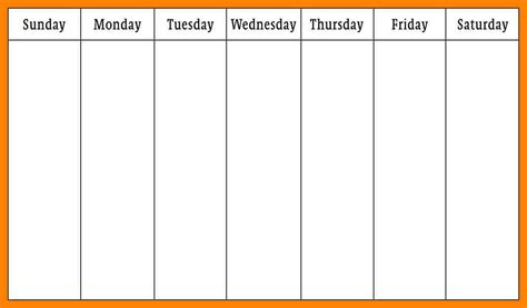 monday thru friday calendar template 7 monday through friday calendar daily log sheet