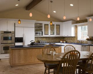 pitched ceiling lighting kitchen