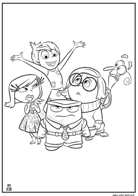 inside out team printable coloring page for kids and adults inside out coloring pages free printable 02