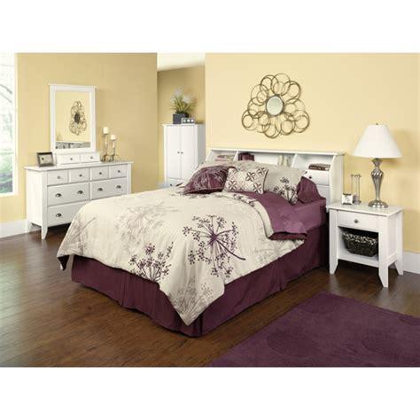 shoal creek bedroom furniture sauder shoal creek 4 piece bedroom set soft white