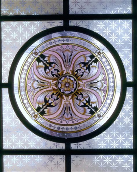 Stained Glass Ceiling Light Panels by Detail Of Glass Ceiling Light Featuring A Painted
