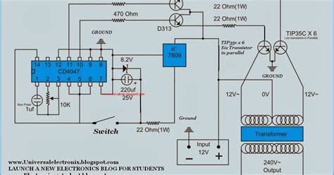 simple 500 watt inverter circuit diagram all about
