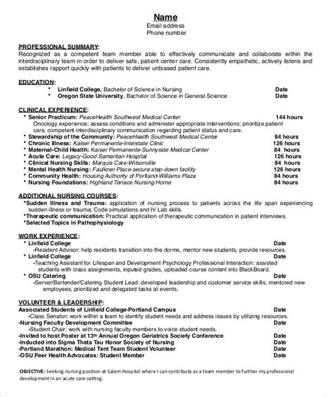 Entry Level Nursing Resume 10 resume templates pdf doc free premium