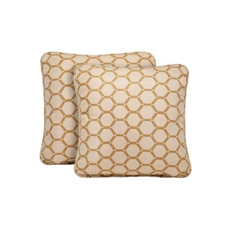 Barley Pillow by Brown Highland Tessa Barley Outdoor Throw Pillow 2 Pack M10035 Tp 7 The Home Depot