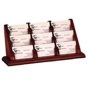 business card rack displays wooden mallet business card holder bcc3 9 office zone 174