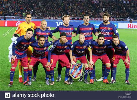 barcelona team barcelona team group line up december 20 2015 football