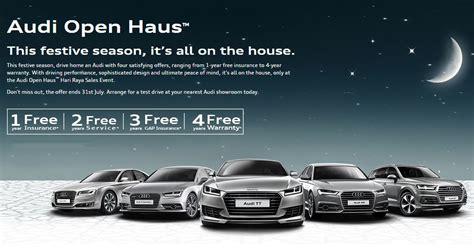 new year car promotion malaysia audi malaysia launches hari raya open haus promo 1 year
