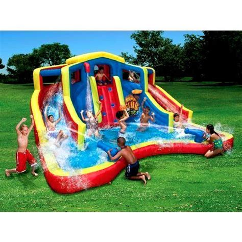 ultimate inflatable backyard water park inflatable water two slide pool bounce jumper bouncer