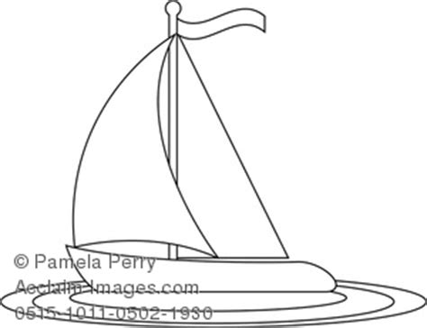 vinta boat drawing sailboat outline clipart stock photography acclaim images