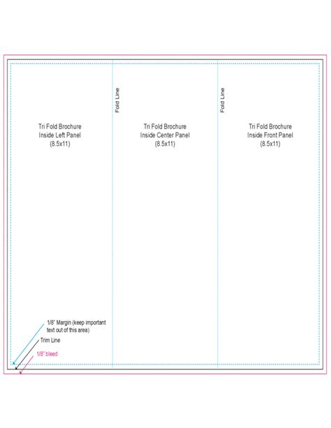 tri fold outside centre panel template free download