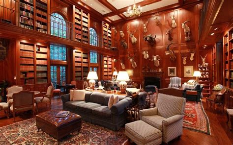 luxury library for home luxury homes with libraries for sale animal heads spiral staircases and georgian