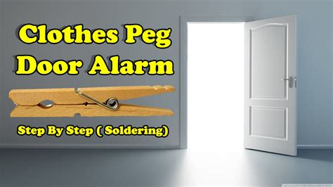 how to make simple doors how to make simple door alarm by using clothes peg diy