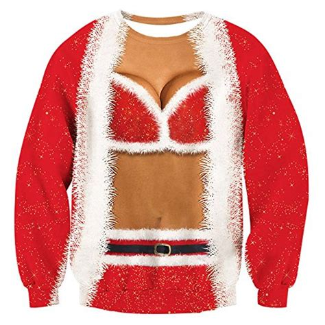 Raisevern Womens Ugly Christmas Sweater Funny Design