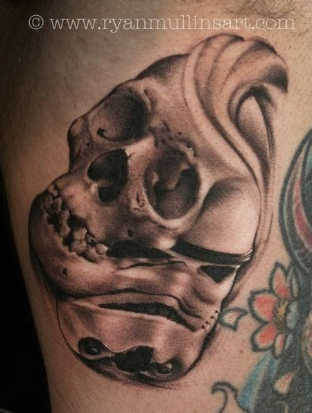 tattoo junkies tattoos black and gray stormtrooper with skull