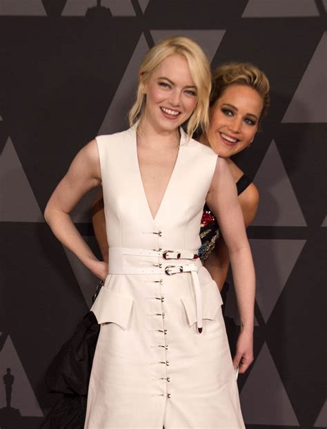 emma stone jennifer stone emma stone jennifer lawrence and andrew garfield at the