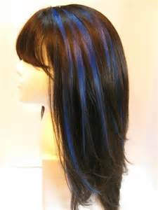 diy highlights for brown hair best 25 blue hair streaks ideas on pinterest blue hair