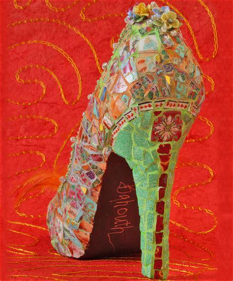 girls fashion mosaic art shoes collection  candace bahouth
